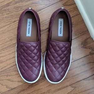 Steve Madden Leather Quilted Slip On Flats